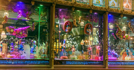 Showcases Yeliseyev Grocery Store, St. Petersburg, Russia. Editorial