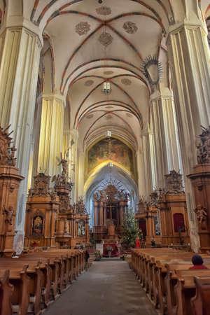 francis: St. Anne`s Church and Church of St. Francis and St. Bernard, Vilnius, Latvia.