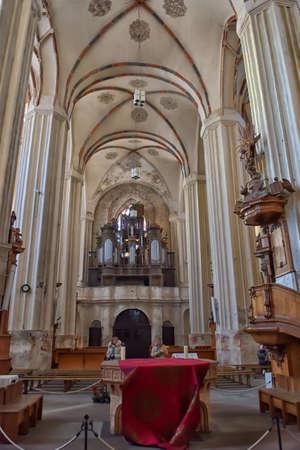 St. Anne`s Church and Church of St. Francis and St. Bernard, Vilnius, Latvia.