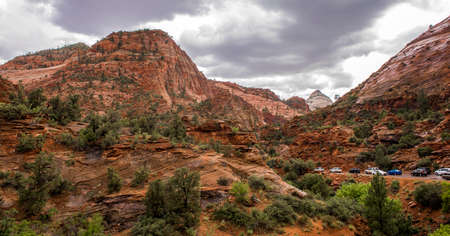 Zion National Park, Utah, USA on a rainy day