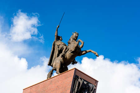 Monument to VI Chapaev - a monument in the city of Cheboksary - the capital of the Chuvash Republic. Dedicated to the legendary Hero of the Civil War, to the commander Vasily Ivanovich Chapaev, a native of Cheboksary.