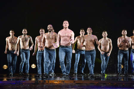 Performance of the St. Petersburg theater dance Temptation.