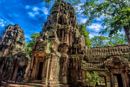 SIEM REAP, CAMBODIA 29.06.207  : Prasat Ta Prum or Ta Prohm Temple complex, near Siem Reap, Cambodia.