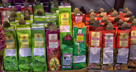 Thailand, Pattaya, 03,07,2017 Herbal teas in the store