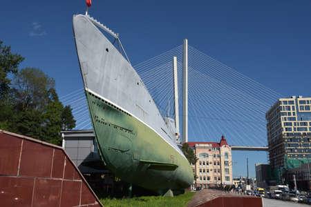 Russia, Vladivostok, 26,08,2016 Memorial Submarine Museum S-56 in Vladivostok, Primorsky Krai in Russia.