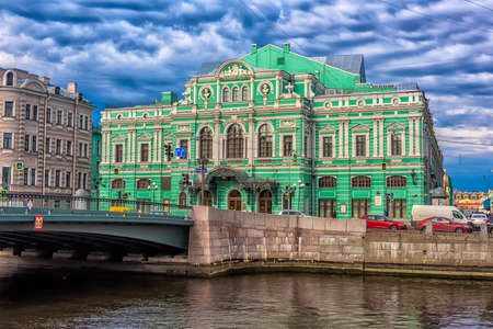 Russia, Saint-Petersburg, 23,09,2017 The Bolshoi Drama Theater named after GA Tovstonogov Reklamní fotografie - 89161565