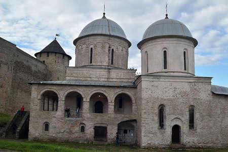 Russia, Ivangorod 01,08,2015 Ancient Russian fortress in Ivangorod.