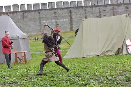 Russia, Ivangorod 01.08,2015 Festival of medieval reconstruction