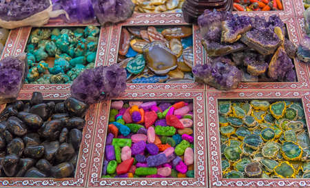 colored stones for sale in Turkey market Stock Photo