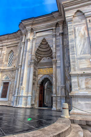 ISTANBUL/TURKEY- 14.03.2018: Exterior view of of Nuruosmaniye Mosque. The mosque was commissioned from the order of Sultan Mahmut I beginning in 1748 and completed by Sultan Osman III in 1755 Editorial
