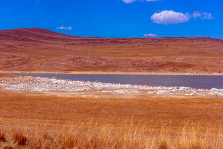 mineral lake in the Tazheran steppe