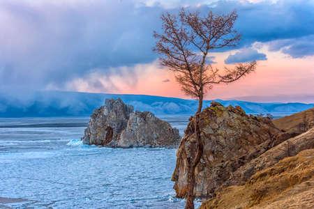 rock  Shamanka on the island of Olkhon, Baikal