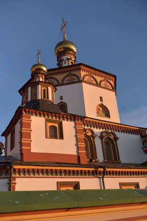 Russia, Irkutsk 06,05,2018 The Epiphany Cathedral (Epiphany Cathedral) is an Orthodox church in Irkutsk, 報道画像