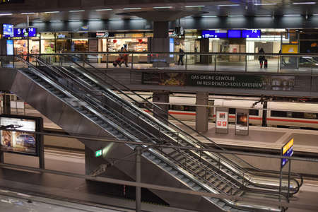Berlin, Germany - 21.03.2015: Berlin train main station (Hauptbahnhof) in Berlin, Germany. The main railway station in town and the largest crossing station in Europe