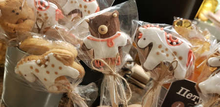gingerbread with icing in the package
