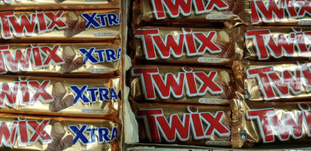 Russia, St. Petersburg 22,12,2018 Twix Chocolate in the store
