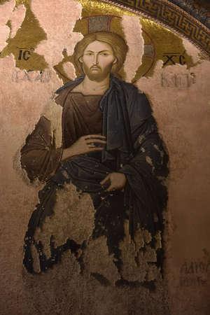 Turquie, Istanbul 14,03,2018 Peintures murales sous le dôme de l'église du Saint Sauveur hors les murs. Le deuxième nom de celui-ci est maintenant le musée Kariye à Istanbul, en Turquie Éditoriale