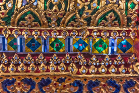 ancient thai ornament of gold and stones