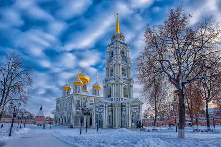 Assumption Cathedral building of the Tula Kremlin Stock Photo