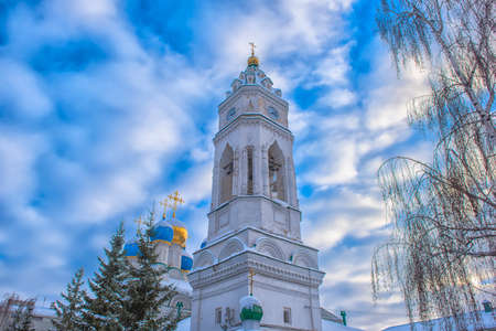 Russia, Tula 14,02,2019. Church of the Annunciation of the Blessed Virgin in winter. Annunciation Church