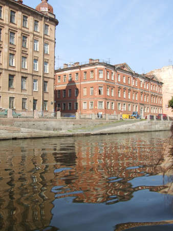 Russia, St. Petersburg 16,01,2007  Canals and architecture in Saint Petersburg. Saint Petersburge, Russia