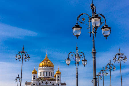 Russia, Moscow 06,04,2019 Cathedral of Christ the Saviour in Moscow, Russia Standard-Bild