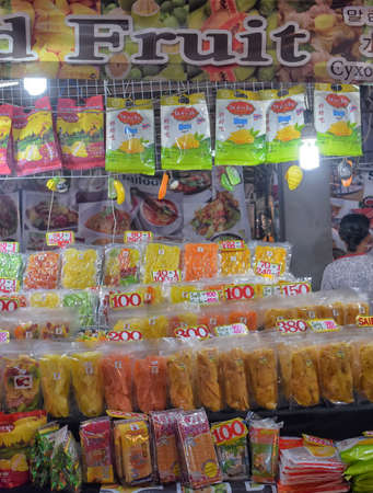 Thailand, Pattaya 24,08,2018 Dried fruits on sale in the market