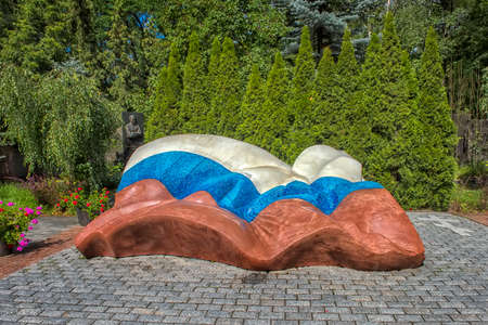 Moscow, Russia.08,07,2019: Novodevichy Cemetery. Grave of first President of the Russian Federation Boris Yeltsin