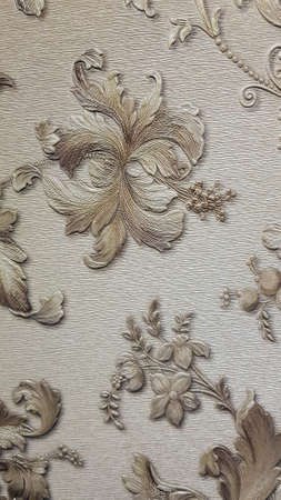 gray with beige vintage wallpaper with flowers