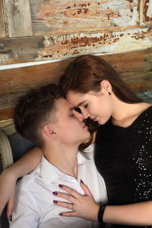 Portrait of beautiful young couple in love