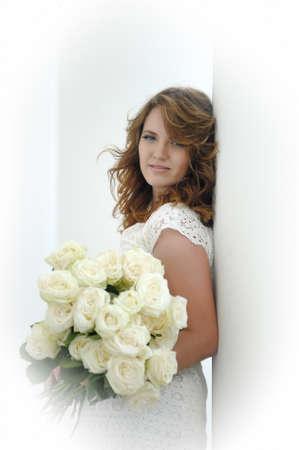 Portrait of happy woman. Gorgeous, glamour. Zdjęcie Seryjne