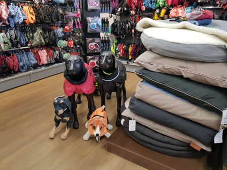 Lappeenranta, Finland 15,01,2020 Pet products at a pet store