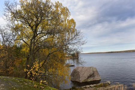 Mon repos is rocky landscape Park on the shore of the Bay of Protective Vyborg Bay, Northern part of city Vyborg in Leningrad region. State historical-architectural and natural Museum-reserve.