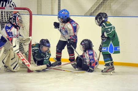 Russia, St. Petersburg 01.06,, 2016 Open tournament for children's hockey White Nights