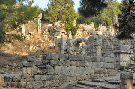 The ruins of the ancient aqueduct at Phaselis, Turkey