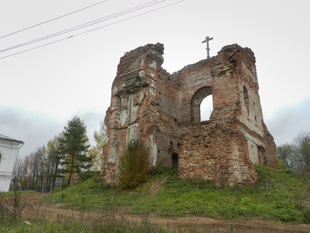 atheism: Ruins of the curch, Voha, Kostroma Region, Russia Editorial