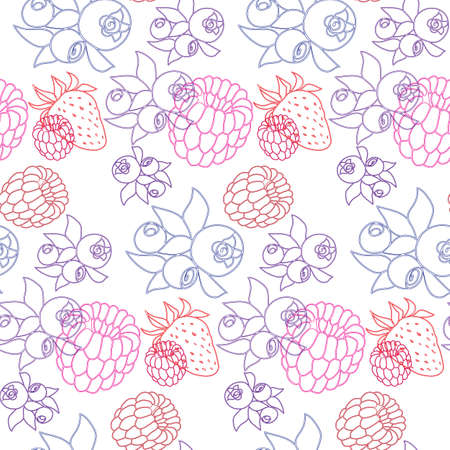 seamless pattern with the image of berries Illustration