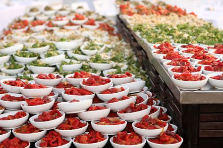 Catering food at a wedding party - appetizers