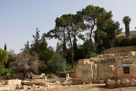 The ruins of Byzantine Basilica of Emmaus Nicopolis, Israel