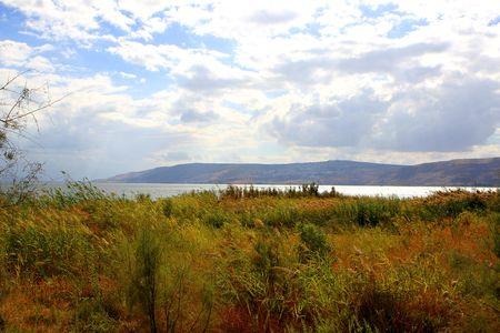 Sea of Galilee or Kineret lake in Israel