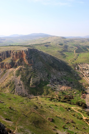 Hill in Arbel National Park, Galilee, Israel photo