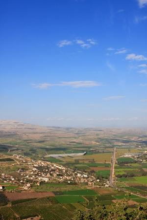 galilee: View of Galilee from Arbel mountain, Israel Stock Photo