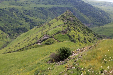golan: Israeli national park Gamla at the Golan Hights Stock Photo