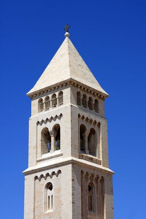 The church tower in Jerusalem, old city, Israel