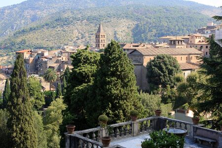 View of Tivoli from the villa d`Este, Italy Stock Photo