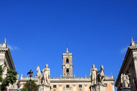 Architecture of Capitoline Hill, one of the seven hills of Rome, Italy