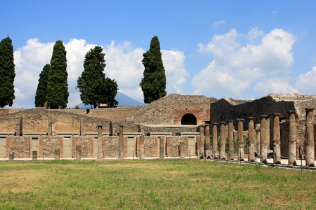 Ruins of Pompeii, buried Roman city near Naples, Italy