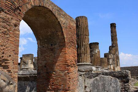 Ruins of Pompeii, buried Roman city near Naples, Italy