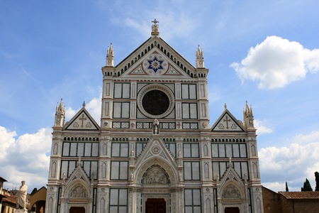 Basilica di Santa Croce (Basilica of the Holy Cross), Franciscan church in Florence, Italy Stock Photo