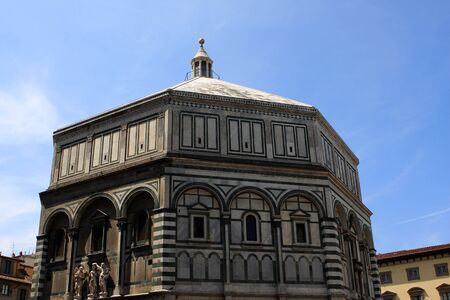 The Florence Baptistry or Battistero di San Giovanni, Florence (Tuscany), Italy